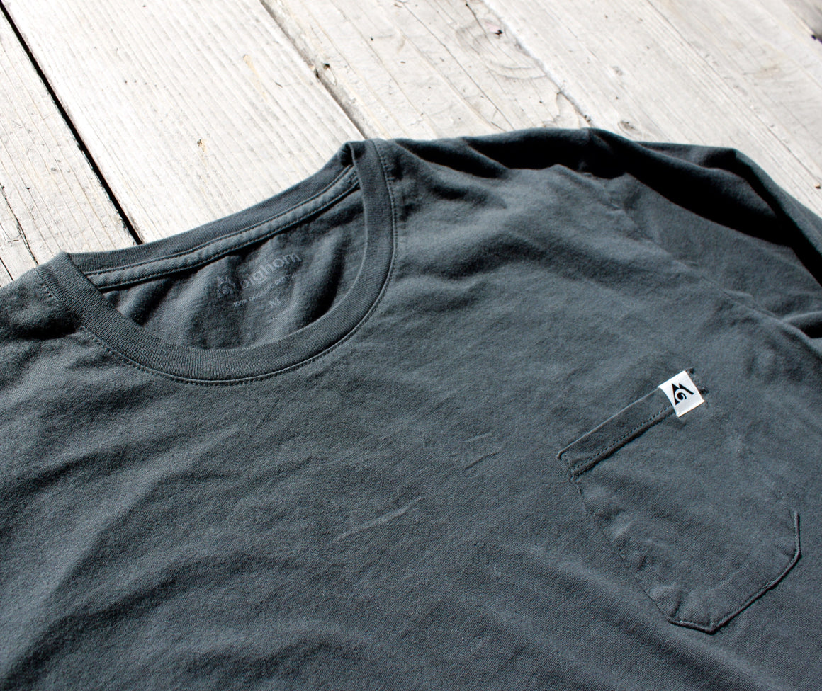 Long Sleeve Organic Cotton Garment-Dyed Tee Pine