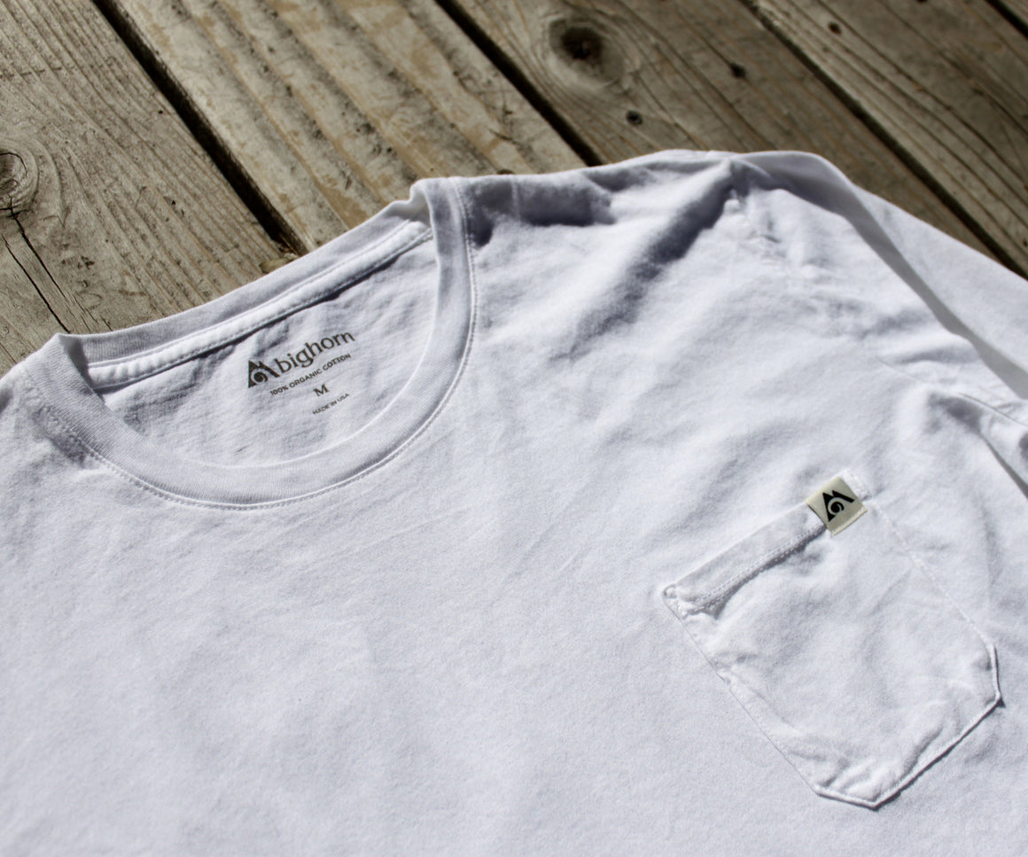 Long Sleeve Organic Cotton Garment-Dyed Tee Snow