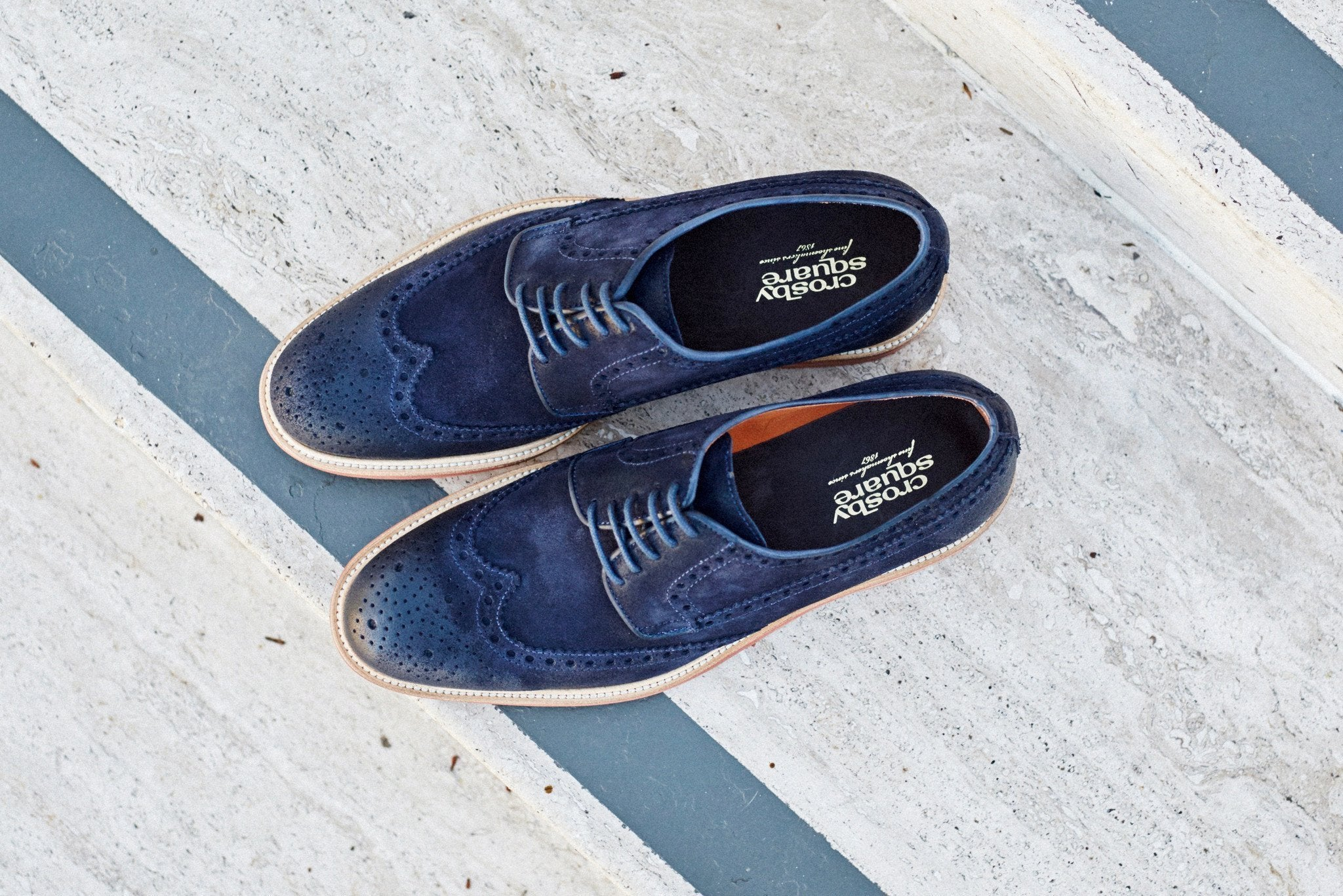 The Woodford in Navy Suede