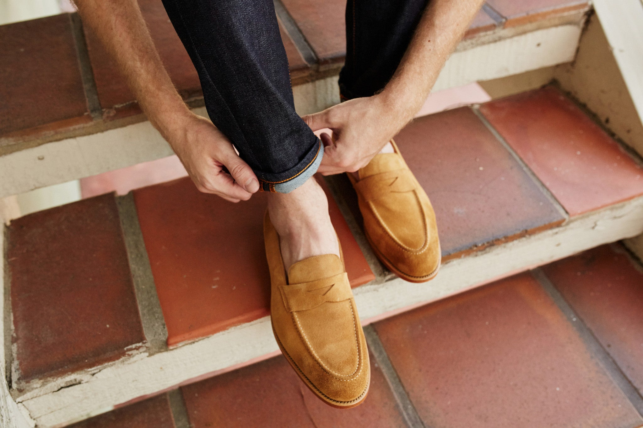 The Randall in Light Tan Suede