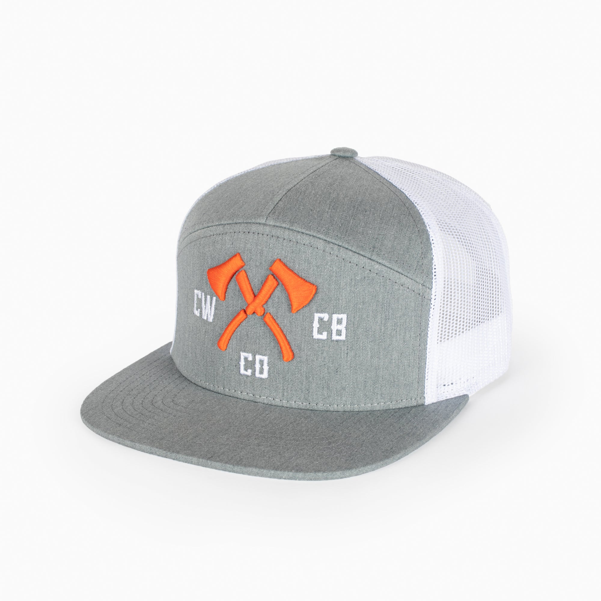 CW Embroidered Hat 7 Panel Trucker