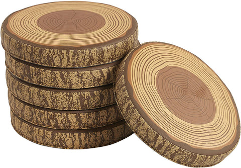 46ET109 - SoftZone Tree Log Floor Cushions (Pack of 6)
