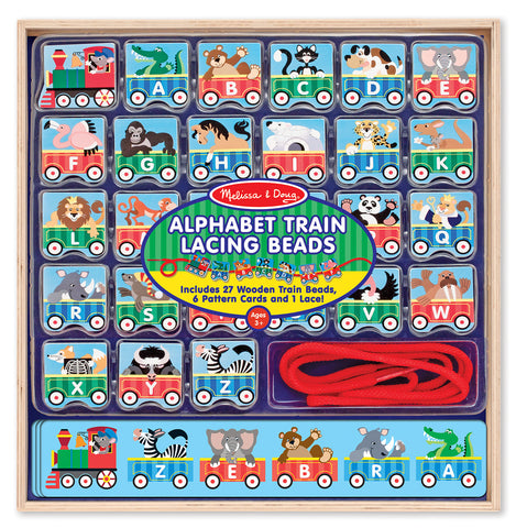 Melissa & Doug ABC Lacing Train