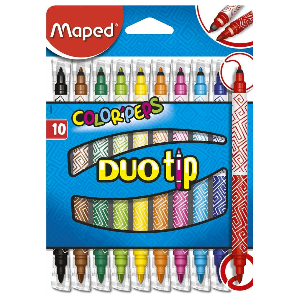 13MF140 - Crayons Duo Tip Colorpeps Markers