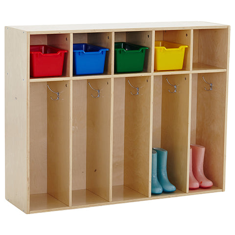 46ET097 - Birch Streamline 5-Section Toddler Coat Locker