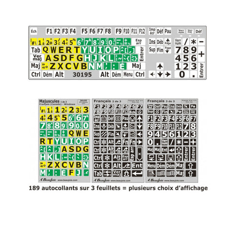 16AU006 - Computer Keyboard Stickers