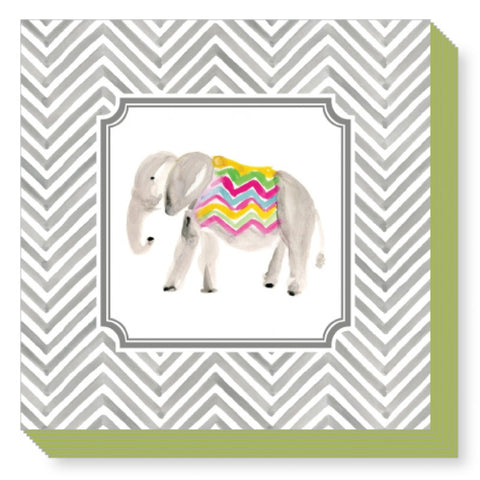 CHEVRON ELEPHANT COVERED NOTEPAD