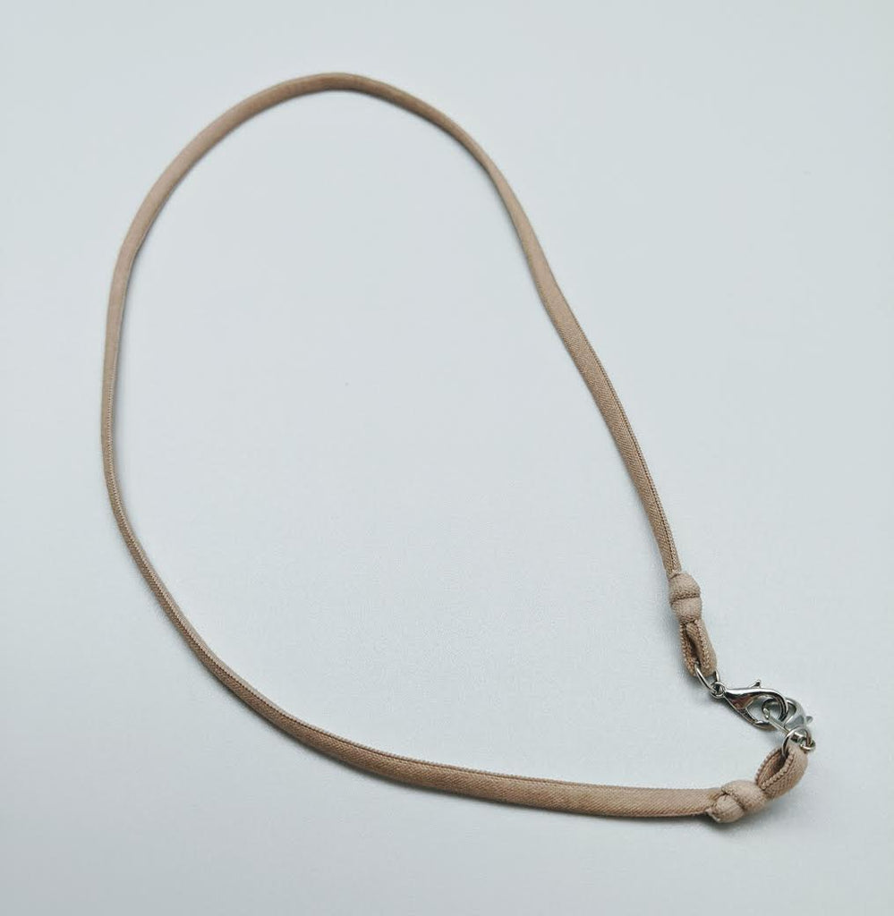 FACE MASK LANYARD- BFS - LIGHT BROWN