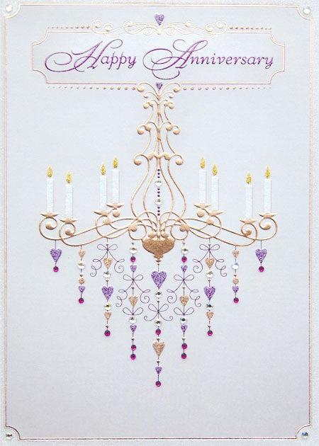 GREETING CARD - ANNIVERSARY - DD -  CHANDELIER