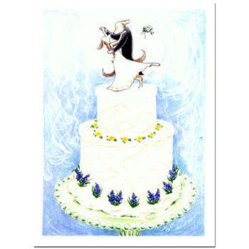 WEDDING CAKE - GREETING CARD