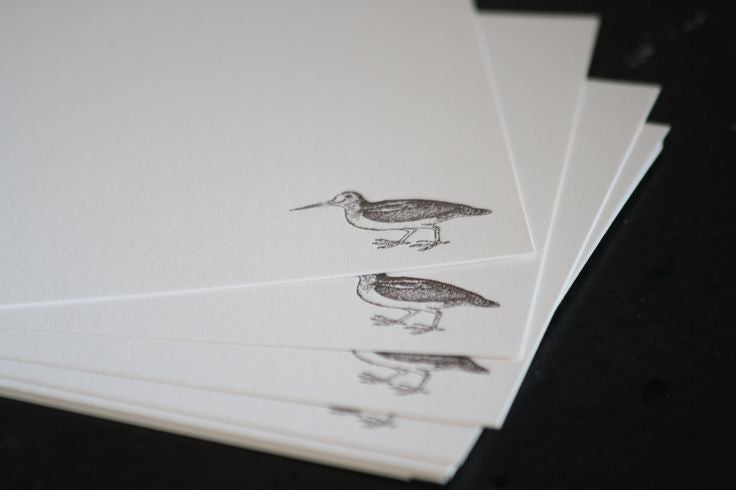 BOXED NOTE CARDS - ANC - WOODCOCK LETTERPRESS SET OF 8