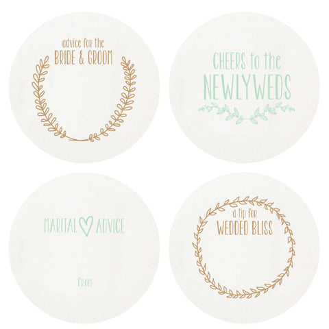 COASTERS - HP - NEWLYWED SMALL BOX OF 16 LETTERPRESSED