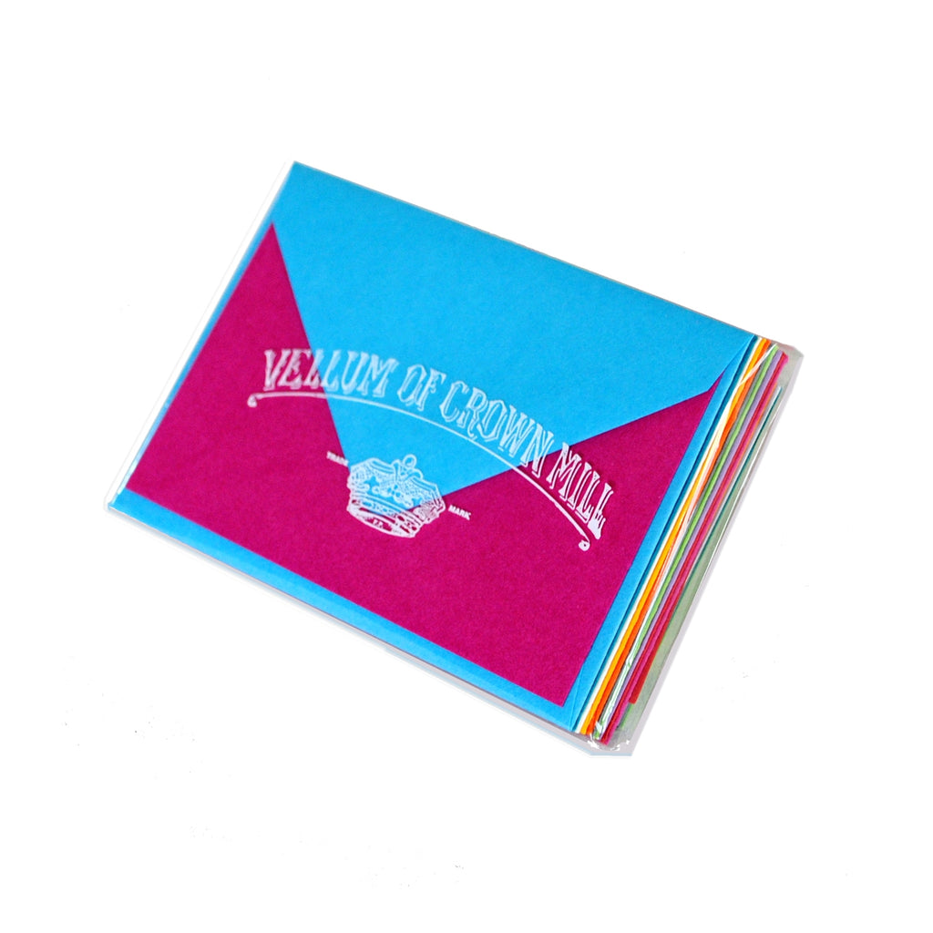 MINI NOTE CARDS - OCM - BRIGHT ASSORTED COLORS