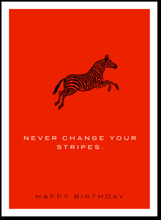 BIRTHDAY - JF - NEVER CHANGE YOUR STRIPES