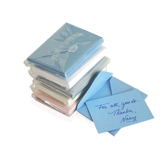 MINI NOTE CARDS - OCM - PASTEL LAID ASSORTED COLORS