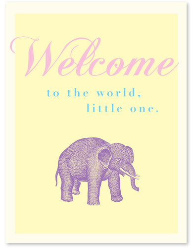 WELCOME LITTLE ONE - GREETING CARD