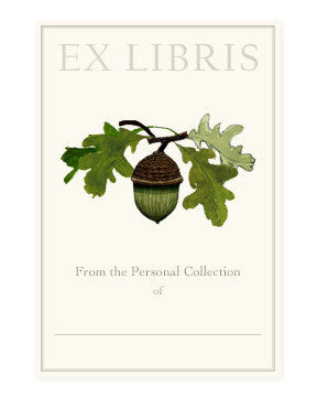 BOOKPLATES - FD - ACORN STEM