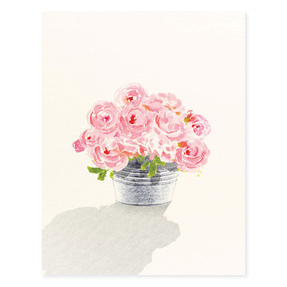 WATERCOLOR BOUQUET - GREETING CARD