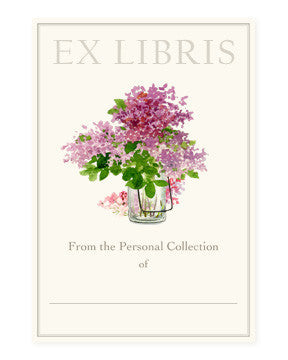LAVENDER LILACS - BOOKPLATE