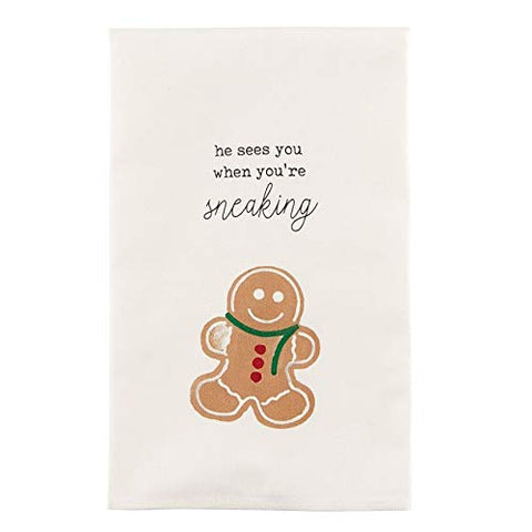 CHRISTMAS KITCHEN TOWEL -MP- SNEAKING