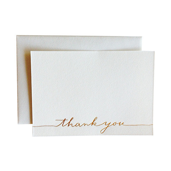 THANK YOU CARD SET WITH LINERS - NAVY