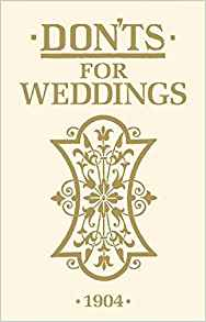 BOOK - BFS - DON'TS FOR WEDDINGS
