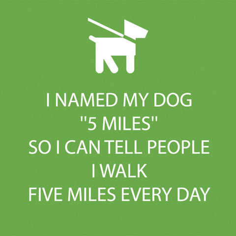 BEVERAGE NAPKINS - PPD- 5 MILES DOG