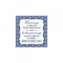 BEVERAGE NAPKINS - DD - PART OF ME SAYS