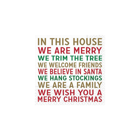 CHRISTMAS NAPKINS - DD- WE ARE MERRY