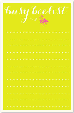 NOTEPAD/LINEPAD - JF - BUSY BEE
