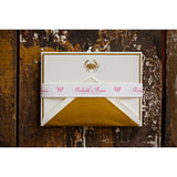 BOXED NOTE CARDS - PP - GOLDEN CRAB ENGRAVED SET OF 10