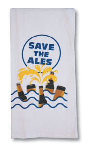 "BAR TOWEL - CP - ""SAVE THE ALES"""