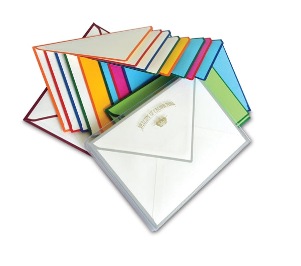 BOXED NOTE CARDS - OCM - GREY BORDERED CARDS