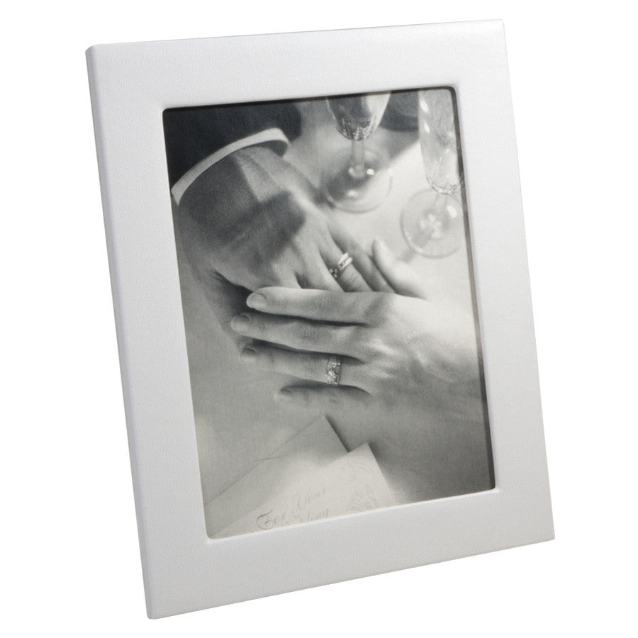 FRAME 8 X 10 - GI- WHITE NAPPA COWHIDE LEATHER
