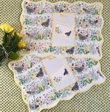 PAPER PLACEMATS & PLACE CARDS - CMY - FARM TO TABLE CHICKENS SET OF 10 AND 10 PLACE CARDS