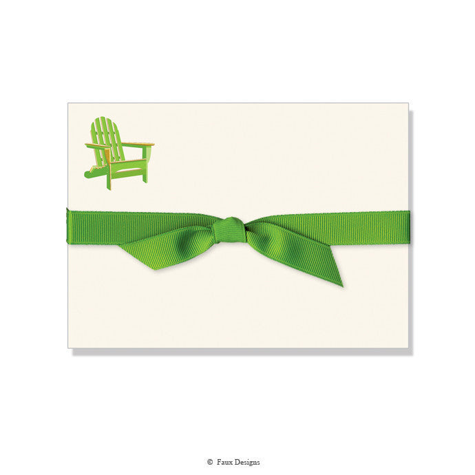 BOXED NOTE CARDS - FXD - ADIRONDACK CHAIR
