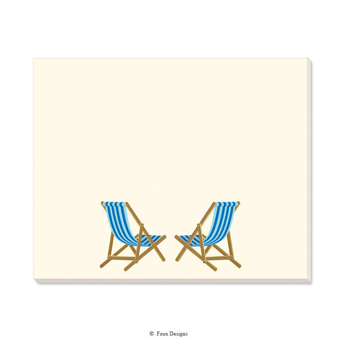 DESK NOTE PAD - FXD -  BEACH CHAIRS