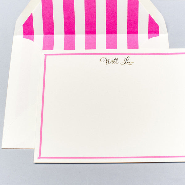BOXED NOTE CARDS - KA - WITH LOVE