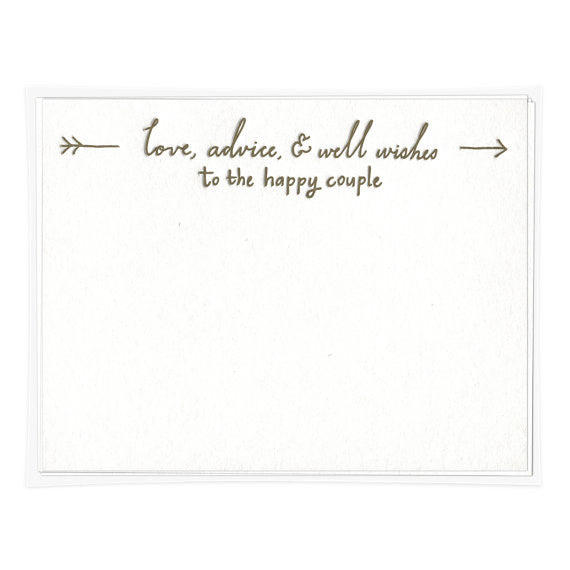 ADVICE TO THE HAPPY COUPLE
