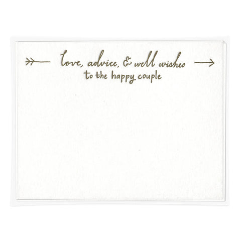 ADVICE CARDS - IMP - TO THE HAPPY COUPLE