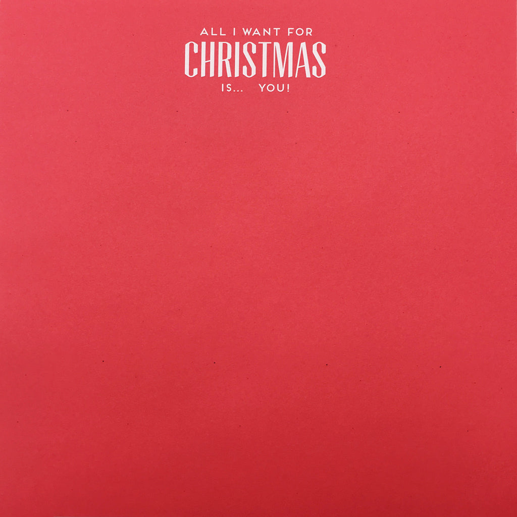 CHRISTMAS NOTEPAD - HP- ALL I WANT FOR CHRISTMAS IS YOU