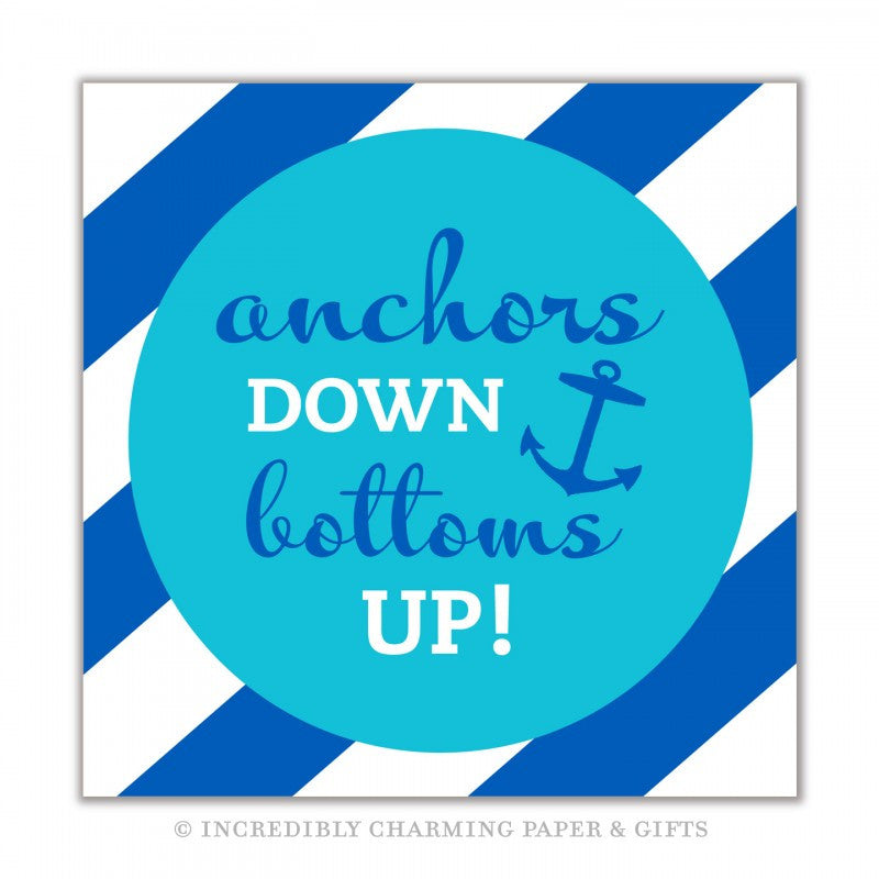 NAPKINS - ICPG - ANCHORS DOWN BOTTOMS UP!