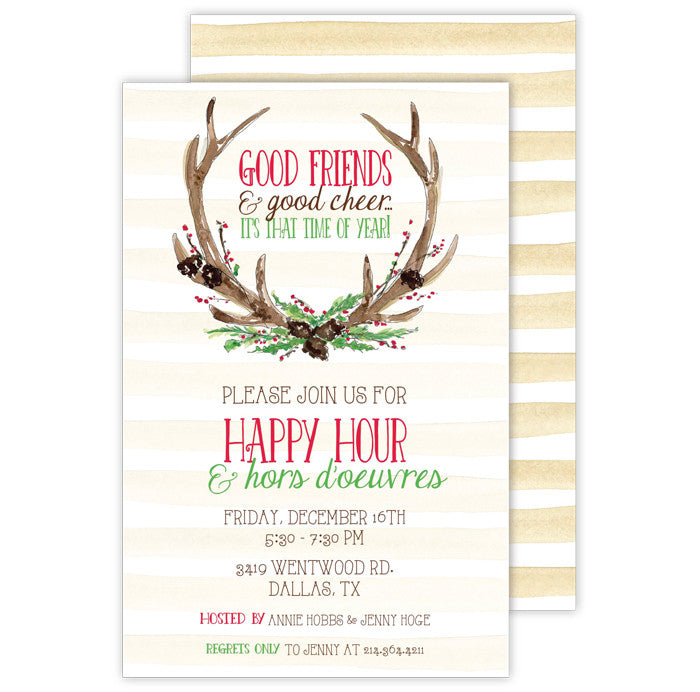 IMPRINTABLE INVITATIONS- RAB- ANTLERS