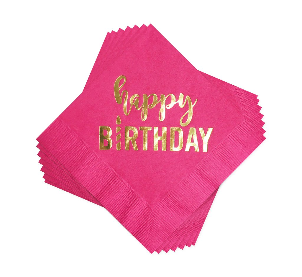 BOXED BEVERAGE NAPKINS - AP - HAPPY BIRTHDAY