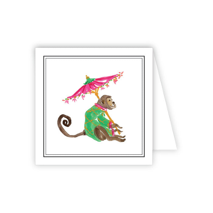 GIFT ENCLOSURE -RAB- MONKEY WITH UMBRELLA