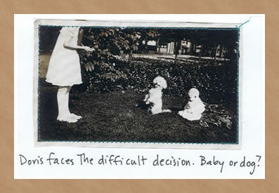 BABY OR DOG? - GREETING CARD
