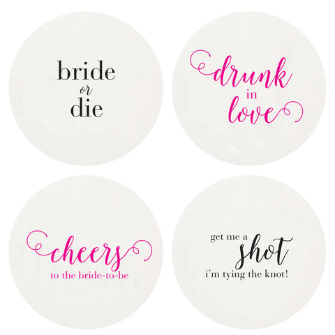 LETTERPRESSED BACHELORETTE  COASTERS LARGE BOX OF 100