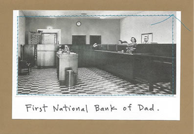 NATIONAL BANK OF DAD - GREETING CARD