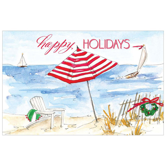 CHRISTMAS PAPER PLACEMATS - RAB - HOLIDAY BEACH 20 PLACEMATS