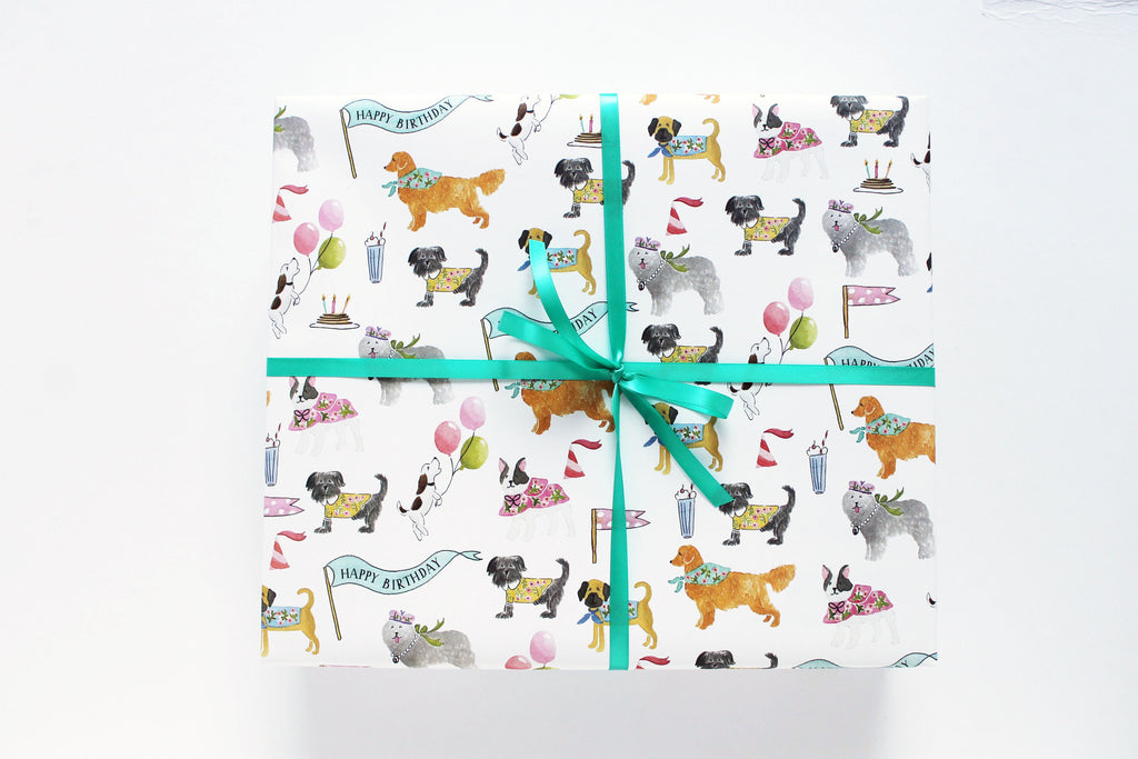 BIRTHDAY DOGS - WRAPPING PAPER
